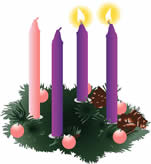 Image result for second sunday of advent wreath
